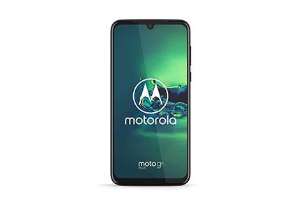 "Motorola Moto G8+ Plus (64GB, 4GB) 6.3"", 48 MP Camera, 4000mAh Battery, Dual SIM GSM Unlocked (AT&T/T-Mobile/MetroPCS/Cricket/H2O) XT2019-2 - International Version (Blue, 64GB + 64GB SD + Case Bundle)"