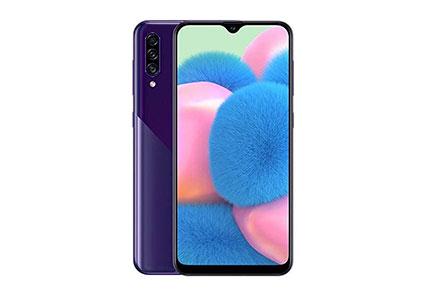 "Samsung Galaxy A30S w/On-Screen Fingerprint (64GB, 4GB) 6.4"", Triple Camera, Dual SIM GSM Unlocked A307G/DS - US + Global 4G LTE International Model (Violet)"