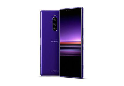 "Sony Xperia 1 Unlocked Smartphone 6.5"" 4K HDR OLED CinemaWide Display, 128GB - Purple - (US Warranty)"
