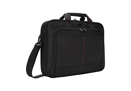 Targus Classic Slim Business Professional Travel and Commuter Bag for 16-Inch Laptop, Black